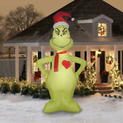 11and039 Christmas Airblown Lighted Yard Inflatable Light Heart Grows 3 Sizes