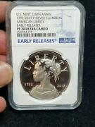 1792 To 2017 P Silver 1 Oz Medal Us Mint 225th Anniversary Ngc Pf 70 Ultra Cameo