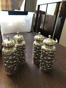 4 Dominick And Haff Antique Sterling Salt And Pepper Shakers Exceptional