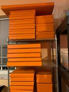 100 Authentic Hermes Gift Box Collection - 47 Empty Boxes And Ribbons