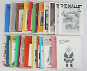 The Mallet Magazine Lot 26 1984 1985 1986 87 Vintage Wood Carving Woodworking
