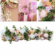 Flower Wall Panel Artificial Rose Wall Backdrop Party Wedding Photo Background