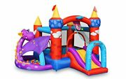 Bounceland Dragon Quest Inflatable Bounce House Ball Pit With 30 Colorful Bal...