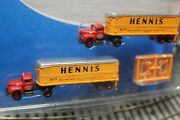 2@ Hennis Int. R-190 Rtr Tractors And 32ft Aerovan Trailers N Scale Rtr