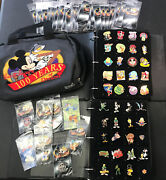 Huge Lot Of Disney Pins Collectible Limited Edition With Binder And Bag Over 200