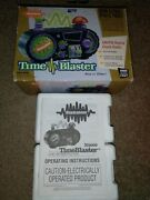 1995 Nickelodeon Time Blaster Alarm Clock Box And Manual Only- Nice Rare