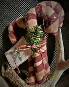 Primitive Large Candy Canes Bundle Scented Christmas Ornies Grunge Handcrafted