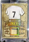 1 Of 1  Mickey Mantle Game Used Jersey Card