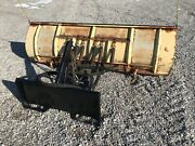 Meyer 100andrdquo Snow Plow With Tractor Skid Steer Quick Attach