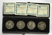 Commemorative Set Discovery Of Russian America In Case Uc [ah975]