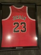 Michael Jordan Framed Signed Jersey With Name Plate