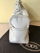 Authentic Todand039s Off-white Pebble Leather Mickey Bag