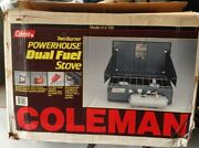 Coleman 414-700 Two Burner Powerhouse Dual Fuel Camp Stove Open Box