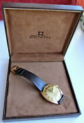 Near Mint 18k Solid Gold Vintage Zenith 28800 Automatic Mens Watch All Original