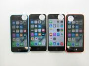 Lot Of 4 Apple Iphone 5c A1532/a1456 T-mobile Check Imei Poor Condition Jj-1193