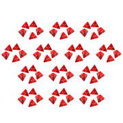Set Of 65 Red Acrylic D4 Polyhedral Role Playing Dice 20 Mm