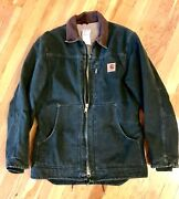 Menandrsquos Small Vintage 90s Duck Coat Sherpa Lined Green Work Jacket
