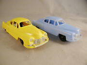 Two 2 Hubley Kiddie Toy 1950s Plastic Cadillac Toy Cars For Transporter Truck