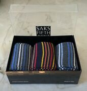 ❤️ Nwt 60 3 Pair Saks 5th Ave Black Label Dress Socks Usa Made In Italy