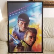 1999 Star Trek Paramount Pictures Poster Kirk And Spock Limited Edition 24x36