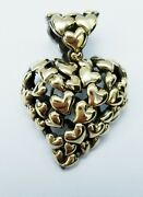 John Hardy 18kt And Sterling Silver Heart Pendant