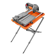 Ridgid Wet Tile Saw 9 Amp Corded Bevel Laser Guide Plunge Stand Water Pump