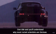 Porsche 911 Why Most Rocket Scientists Are German /banner Poster Large 36x52 New