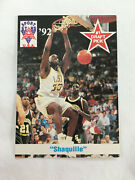 Shaquille Oneal Rookie Lsu Tigers 1992 Sports Stars Draft Usa Basketball Card