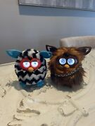 2 Furby Boom And Chewbacca 2012 Star Wars Teal Zig Zags Interactive Hasbro Toys