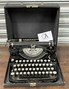 Fabulous Antique Underwood Standard Portable 1920andrsquos Typewriter With Case