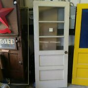 Salvaged Wood 3 Lite Entry Door 79 1/2 H X 32 W Local Pick Up S Philly