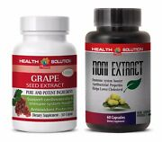 Memory Booster Herbal Supplement - Grape Seed Extract - Noni Combo 2b - Grape Se