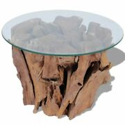 Modern Coffee Table Solid Teak Driftwood Glass Tables Living Room Home Furniture