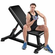 Adjustable Weight Bench,strength Training Benches With Easy Installation 015
