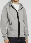 Tom Ford Gray Garment Dyed Fleece Oversized Hoodie Size Large