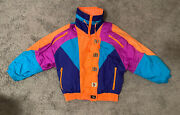 Vintage Rare East West By The Panda Group Neon Winter Puffer Ski Jacket Size S