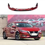 Red Painted Front Bumper Diffuser Board Guard For Nissan Sentra Sylphy 2020-2022