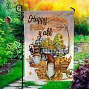 Happy Fall Yall Thanksgiving Gnome Garden Flag, House Flag, Happy Fall Yall Flag