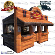 15x10ft Inflatable Saloon Bar Pub Booth The Wild West With Air Blower