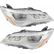 Fits 2015 2016 2017 Toyota Camry Head Light Assembly Pair Capa Certified