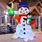 Us 6ft Christmas Inflatable Snowman Air Blown Light Up Outdoor Yard Event Decor