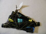 Dichroic Glass Pendant And Wired Wrapped - Handmade Signed By Artist Beautiful