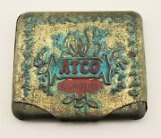 Extremely Rare Vintage Atco Cigarette Tin Case Dating To The Early 1900's