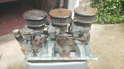 1965 Pontiac Tri Power Setup 9778818 Carbs Linkages Air Cleaners And Fuel Lines