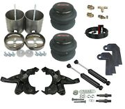 Front Air Ride Kit Bolt In Bags Drop Spindle Shocks For 88-91 Silverado 1500 2wd