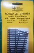 Micro- Engineering 14-713 Ho Ladder Track System Turnout Rh 5b Code 83