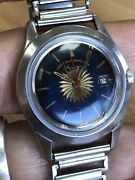 Vintage West End Watch Co Prima Sun Blue Dial Mechanical Movement Ss Watches R5
