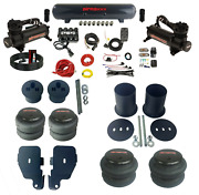 Complete Bolt On Air Ride Suspension Kit Manifold Valve Bags For 1965-70 Gm Cars