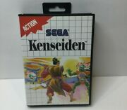 Kenseiden Sega Master 1988 Complete With Manual And Poster