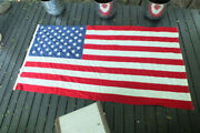 Vtg Valley Forge 50 Star Flag Ww Ii Military Veteran Casket Huge 5and039 X 9 1/2and039 Usa